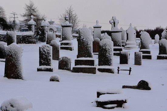 Laggan Parish Church graveyard - winter