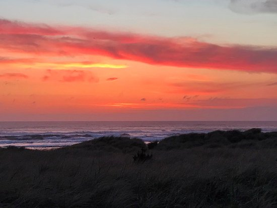 Coast Cabins: Amazing sunsets from the deck