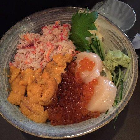 Brookline, MA: hokkaido don! sea urchin, crab meat, scallop and ikura! it's soooooo good and fresh