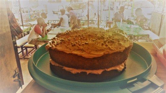 Masaka, Uganda: our prize winning Pumpkin cake!