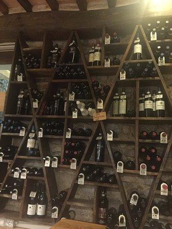 Osteria La Botte Piena : Opções de vinhos