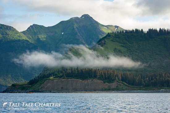 Soldotna, AK: Kenai Peninsula mountains as seen from Cook Inlet