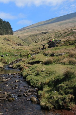 Brecon Beacons National Park, UK: The stream on the bottom