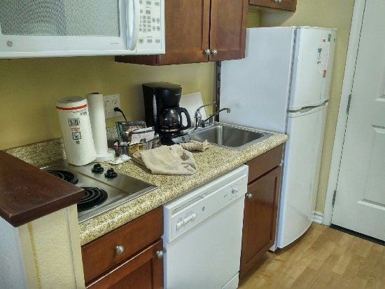 Genial TownePlace Suites Texarkana: Full Kitchenette With Dishwasher, Plates,  Glasses, Pans, Silverware