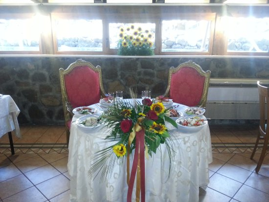 Codrongianos, Italia: Tavolo degli sposi