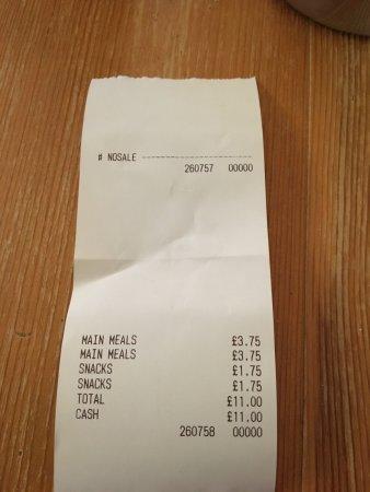 Warkworth, UK: preiswert und trotzem lecker