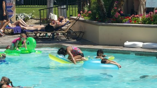 Cathedral City, CA: playing in the pool