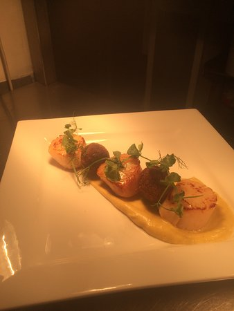 Fintry, UK: Scallops