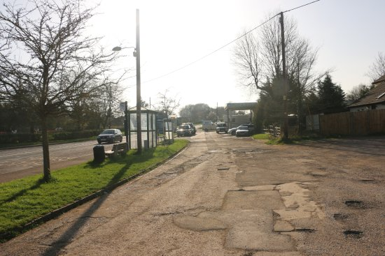 Thame, UK: Outdoor view - Bus Stop right in front.