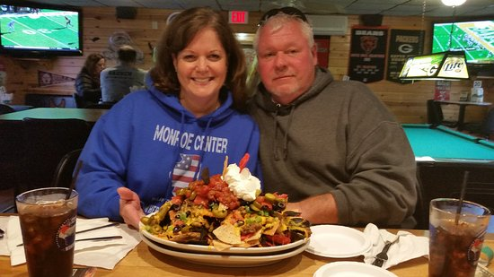 Tomahawk, WI: Our huge plate of Nachos is just one of the entrees we are famous for.