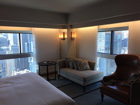 Assez Vue de la chambre : Chrysler et l'Empire State buildings - Picture  YW27