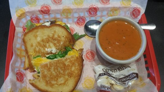 Evansville, IN: Chicken bacon ranch with basil tomato soup