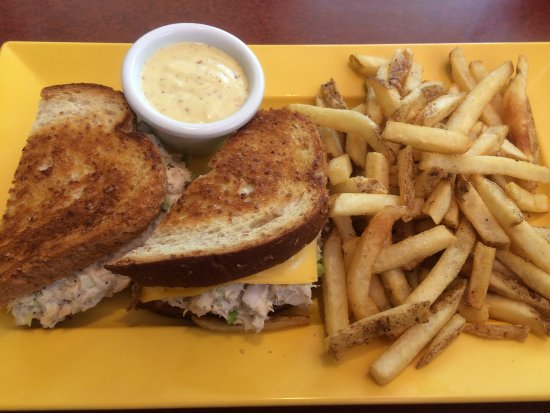 Brooklyn Park, MN: Tuna melt with fries, honey mustard dipping sauce