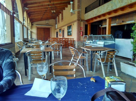 Alora, Spain: View of side interior seating
