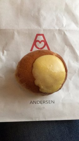 Andersen Bakery: Vanilla and Lemon Custard filled (sort of like a donut)