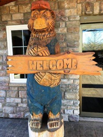 Johnston, IA: Sign outside entrance.