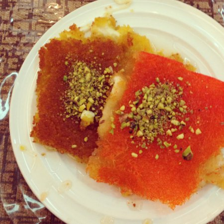 Pizza Roma Cafe : Tasty delicious kunafa tradtional dessert mouth watering stuff