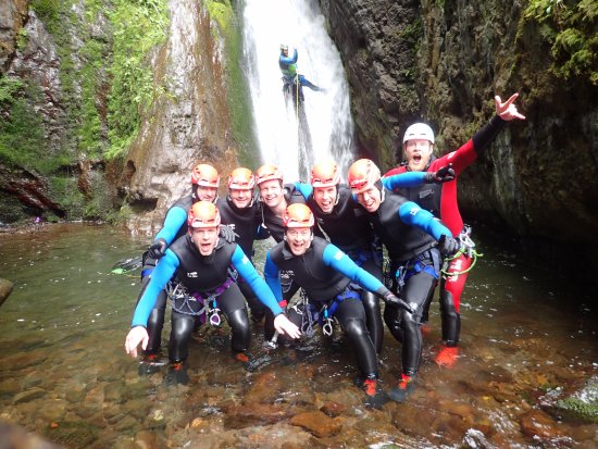 Dunkeld, UK: canyoning