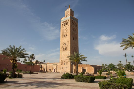 koutoubia minaret picture of koutoubia mosque and. Black Bedroom Furniture Sets. Home Design Ideas