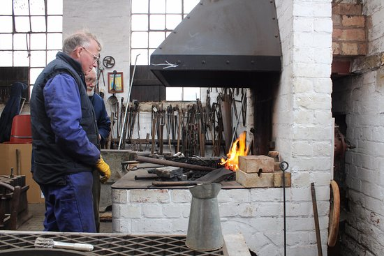 Burton upon Trent, UK: Restored and working blacksmiths' forge