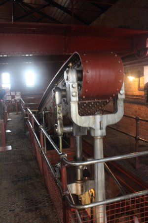 Claymills Victorian Pumping Station: One of three huge working beam engines
