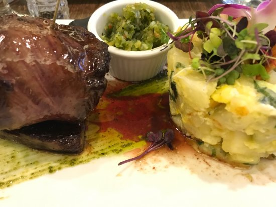 "Bayside, NY: Skirt steak with yucca: ""Entrana a lo Paraguay ""Grilled Skirt Steak on a traditional yuca style"""
