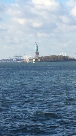viewing The Statue of Liberty from Battery Park