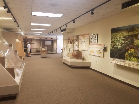 Coolidge, AZ: educational exhibits at the visitor center