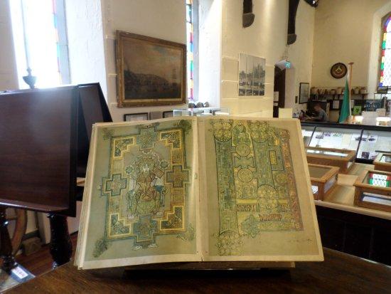 Cobh Museum: Ornate manuscript book