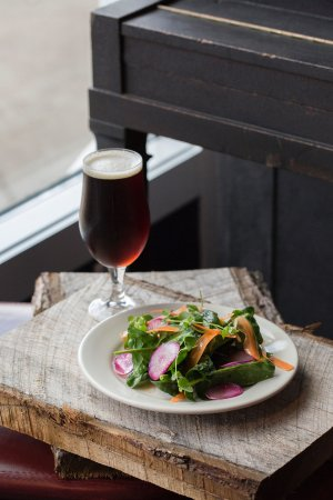 Hillsborough, NC: House salad and winter saison