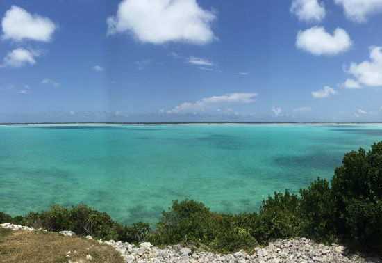 North Caicos: a great view for lunch