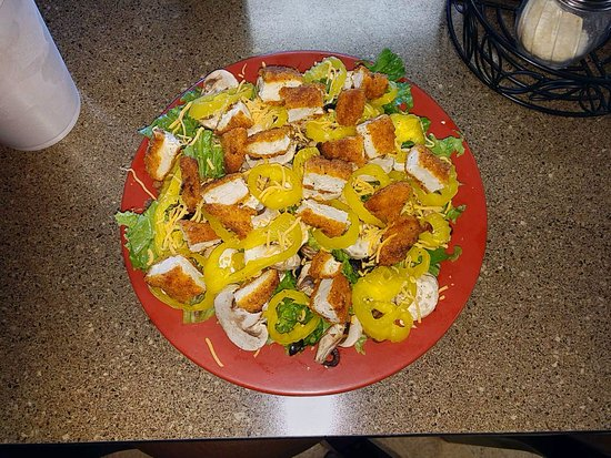 Cleburne, TX: Crispy Chicken Salad except added banana peppers