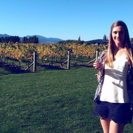 Blenheim, Selandia Baru: cheers to rose in the sunshine at spy valley