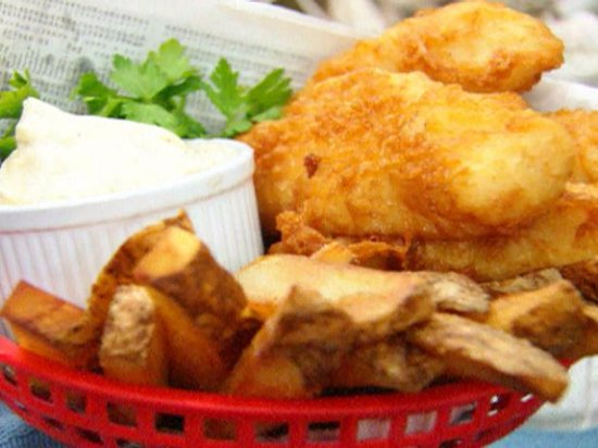 Cleburne, TX: Fish Dinner, Comes With 4 Oz. Breaded Fish Fillet Potato Wedges Salad & Toast Only $9.99