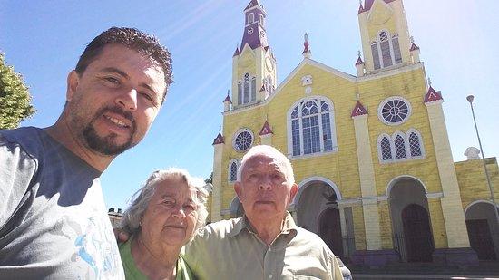 Castro, Chile: con mis viejos