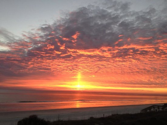 Crescent Beach, FL: a typical scarlet sunrise ~