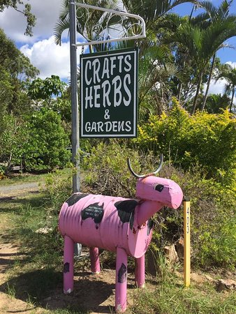 Hervey Bay, Australia: Road Sign - look for the pink cow