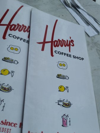 Harry's Coffee Shop: Harry's menu