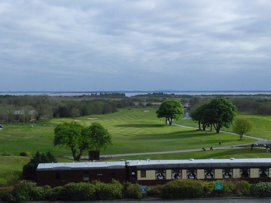 Bushypark, Irland: Beautiful view of train,golf course, and lake