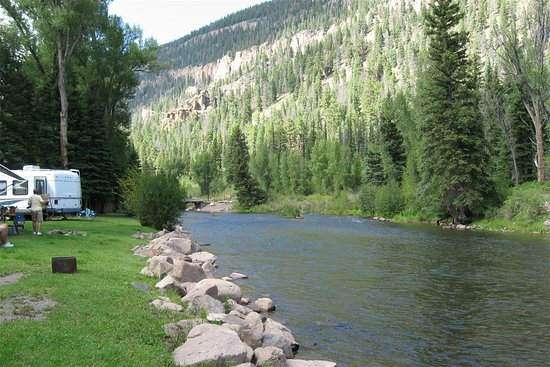 Antonito, CO: Ponderosa Campground on Conejos River, Southern Colorado