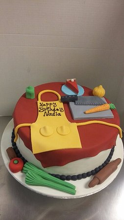 Cake Art Duluth Ga : cooking theme cake - Picture of Art s Bakery & Cafe ...