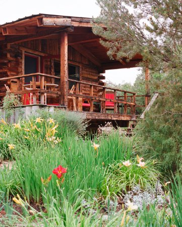 Abode at Willowtail Springs: View from deck of Garden Cottage