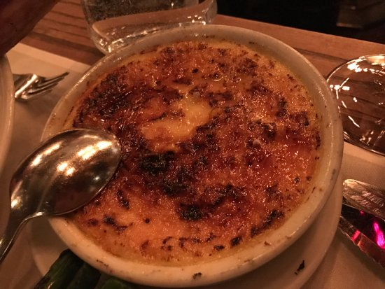 Quality Meats: The Crème brulée was excellent and large.
