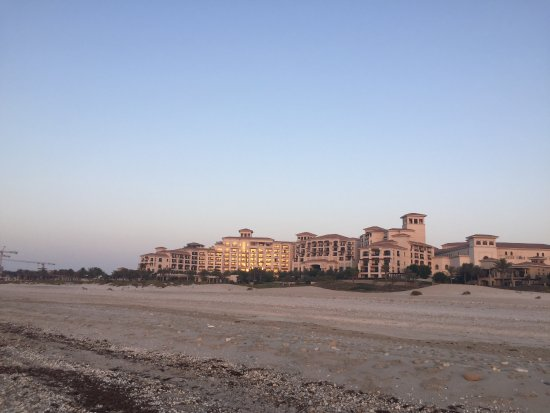 The St. Regis Saadiyat Island Resort: View of the hotel from further down the beach