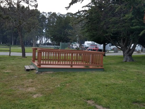 Pescadero, CA: Example of decks that are included with many RV sites