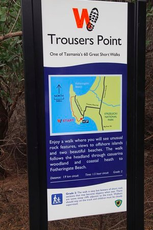Flinders Island, Australia: Trousers Point Walk start