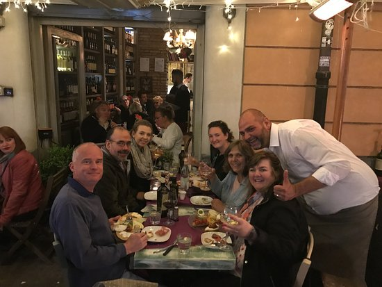 Enoteca Trastevere: great dinner outside