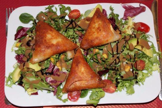 Montaigu-de-Quercy, France: Salade de brick