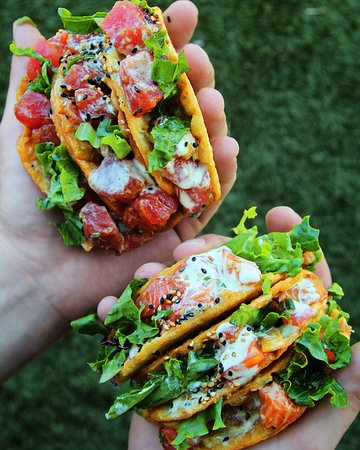 Aliso Viejo, CA: Crispy Poke Tacos.