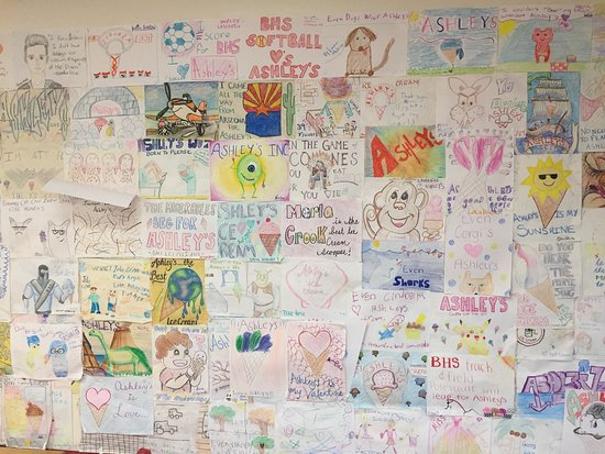 Branford, CT: The wall at Ashley's